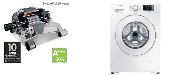 Lavatrice silenziosa samsung 8 kg confronto prezzi for Motore inverter lavatrice